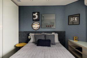 Projeto de Decoração do quarto em Apartamento Urbano Glaucya Taraskeviciu